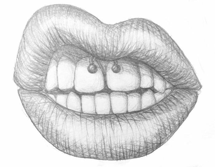 dibujo mujer labios, ideas de dibujos a lapiz que inspiran, dibujos tumblr para dibujar o calcar, mas de 90 ideas de dibujos
