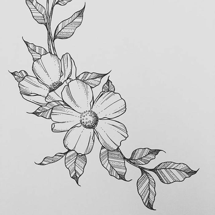 diseños de flores bonitoa para redibujar, ideas de dibujos sencillos y fáciles de hacer en casa, más de 80 ideas de actividades