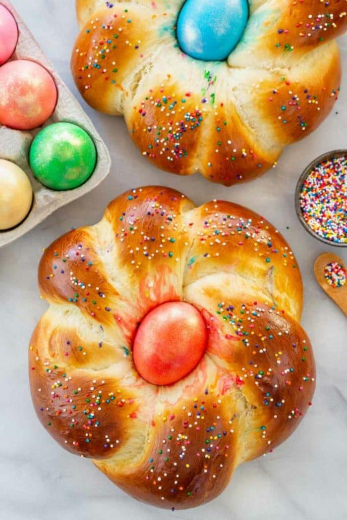 fantásticas ideas sobre como preparar postres para pascua, pan dulce rico y fácil de hacer en casa, ideas de recetas