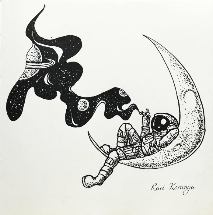 dibujos tumblr para dibujar, dibujos de astronautas que inspiran, más de 80 ideas de obras de arte de gente que publica en tumblr
