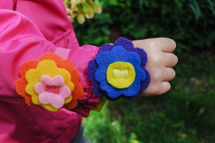 como hacer manualidades con fieltro bonitas, manualidades primavera, ideas de decoracion original con fieltro