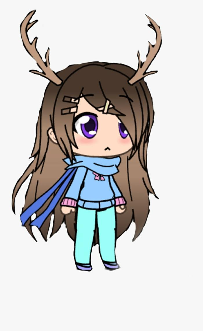 chica linda con cuernos de reno y ojos kawaii grandes, mas de 90 ideas sobre como dibujar kawaii en hermosas imagenes