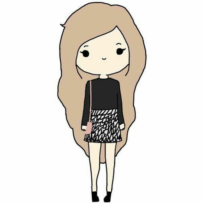 chica dibujo kawaii, los personajes de los dibujos animados japoneses, 90 ideas sobre como dibujar kawaii en imagenes