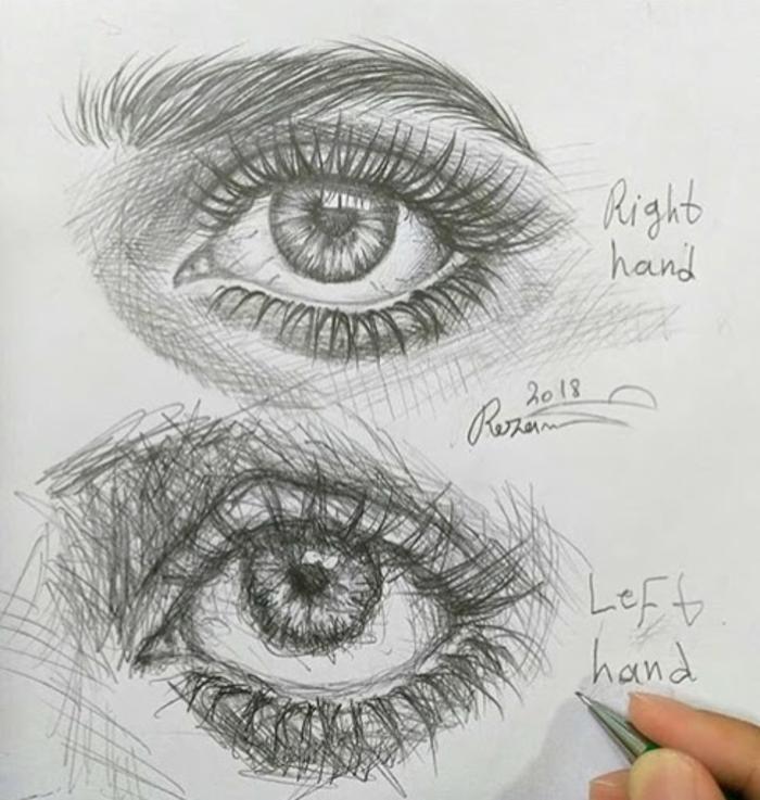 dibujos de chicas tumblr paso a paso, como dibujar un ojo de muejr en estilo realista, dibujos con profundidad a lapiz