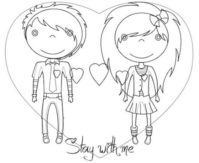 parejas enamoradas en dibujos kawaii, ideas de dibujos para dibujar enviar a tu pareja, fotos de dibujos originales
