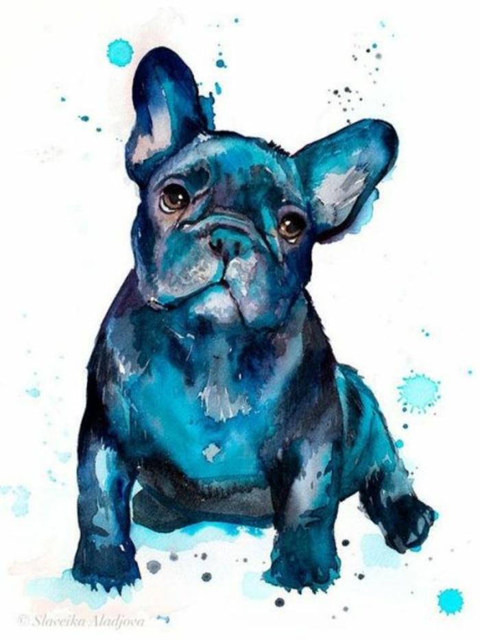 precioso dibujo de perro en acuarelas, ideas de dibujos kawaii para dibujar en casa, fotos de dibujos de chicas tumblr y animales tumblr