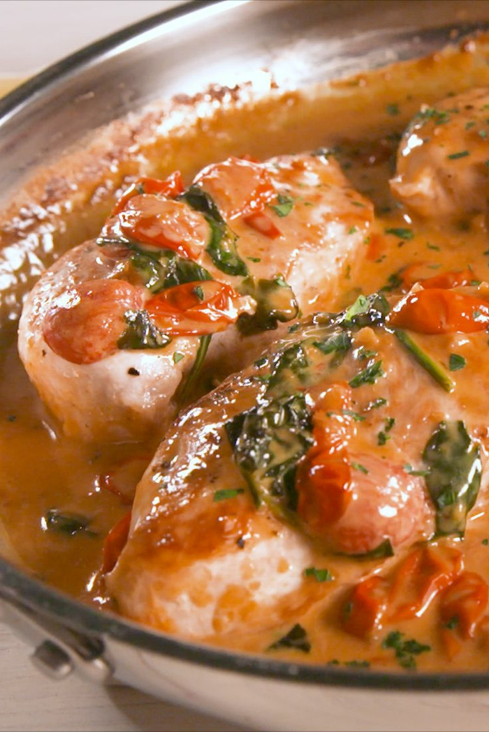 como cocinar pollo con espinacas, recetas ricas de primavera que cada uno debe saber, fotos de recetas ricas y rapidas