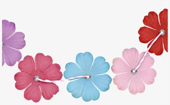cadena de flores en diferentes colores, detalles con flores para dibujar sencillos, ideas de imagenes simples paso a paso