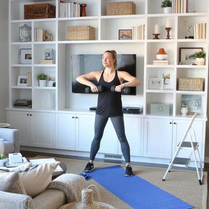 ideas de ejercicios con pesas para mujeres, ejercicios para triceps, ejercicios de flexibilidad y ejercicios de fuerza originales