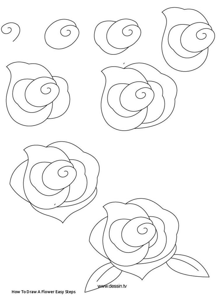 pasos sencillos para dibujar una rosa, ideas de como dibujar una rosa, flores dibujos a lapiz, dibujos con acuarelas