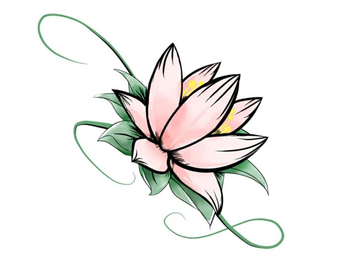 flor de loto dibujo sencillo en colores pastel, como dibujar una rosa, flores dibujos a lapiz, dibujos con acuarelas imagenes