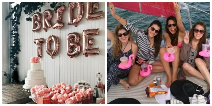 más de 100 ideas sobre como celebrar y organizar una despedida de soltera, dos imagenes con ideas de fiestas