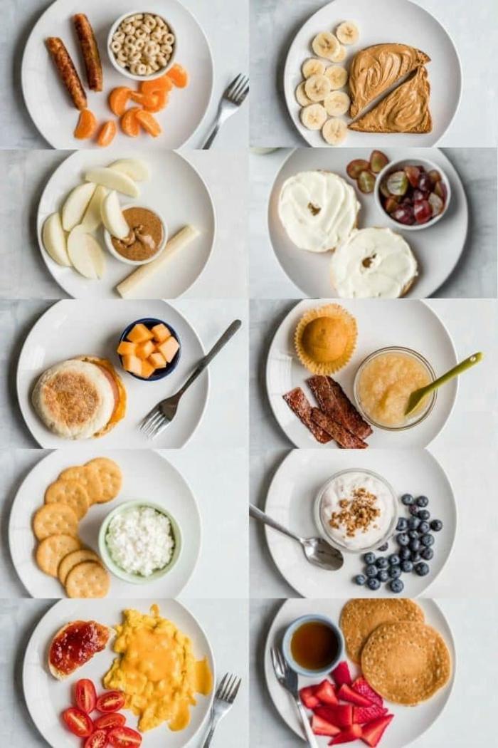 fantascticas ideas de desayunos originales para compartir, ideas de comidas para una dieta equilibrada y sana en fotos