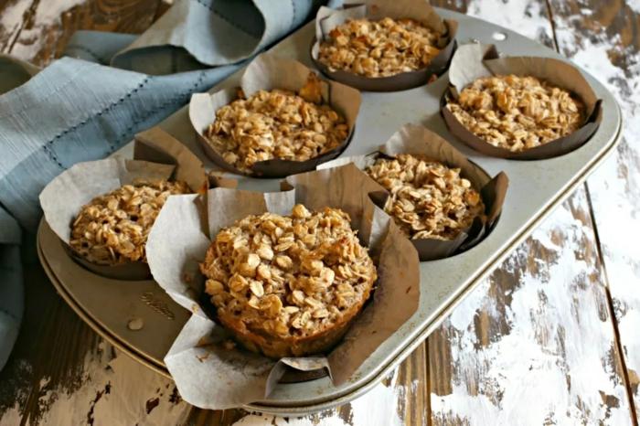magdalenas de cereales con miel, ricas alternativas de comidas dulces, ideas de desayunos saludables para niños en fotos