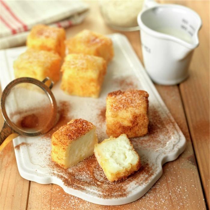 como hacer leche frita en casa, riquisimas ideas de dulces para hacer en casa, dulces típicos de semana santa en fotos