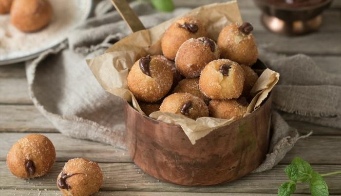 postres faciles y rapidos, como hacer buñuelos de chocolate ricos y faciles de hacer en casa, fotos de comidas ricas