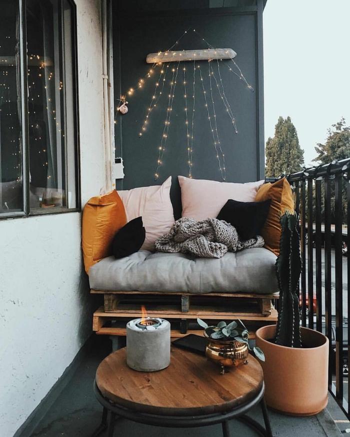 crear un ambiente relajado en la terraza, muebles hechos de palets, las mejores ideas de decoracion de balcon y terraza