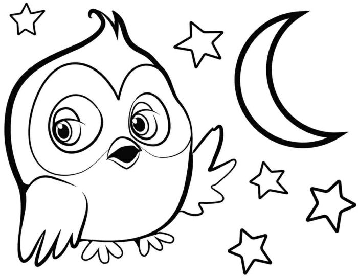 dibujo de buho, animales para dibujar simpaticos, fotos de dibujos originales para los mas pequeños, ventajas de la coloracion