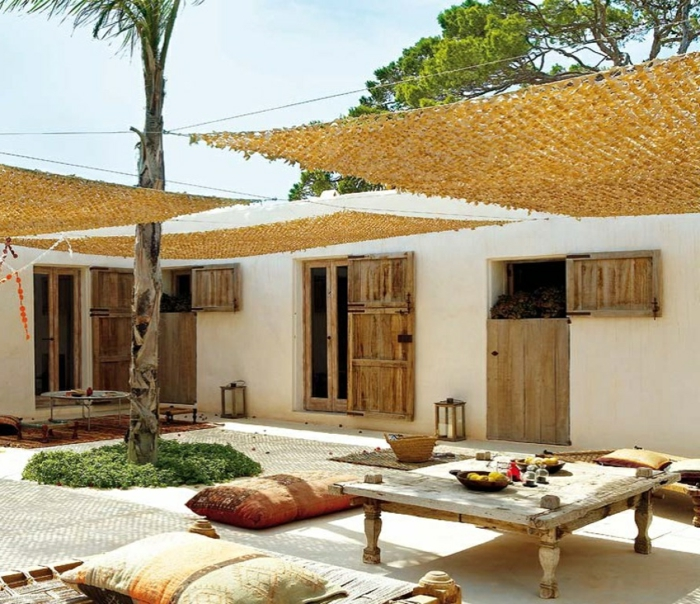 ideas sobre como decorar un patio exterior con poco dinero, fotos de espacios bonitos y modernos, ideas de decoracion moderna