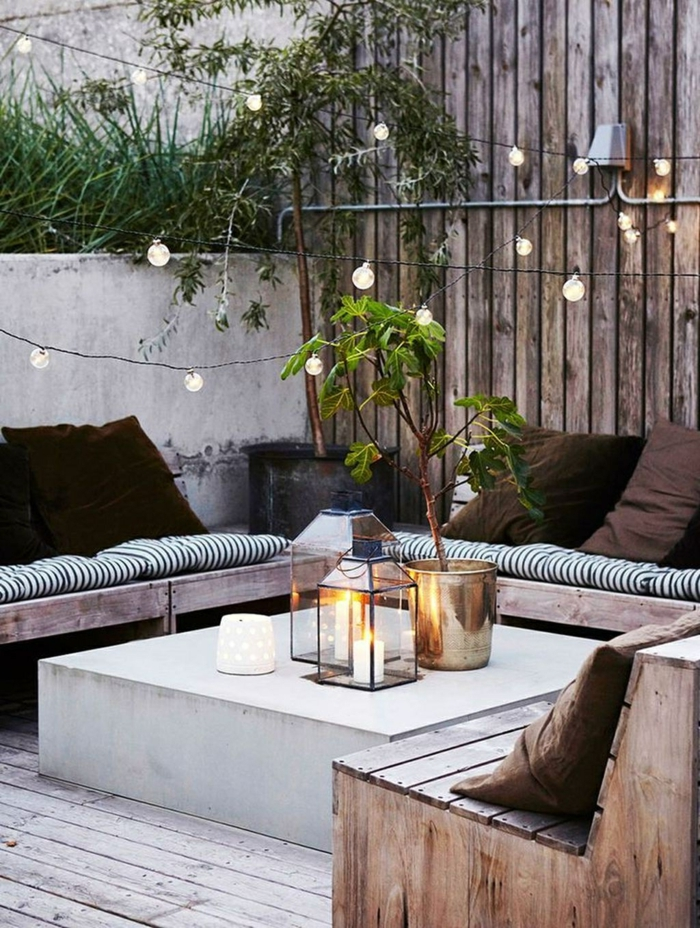 pequeñas terrazas super acogedoras con muebles de palets, muebles de jardin con palets, fotos de terrazas decoradas con mucho encanto