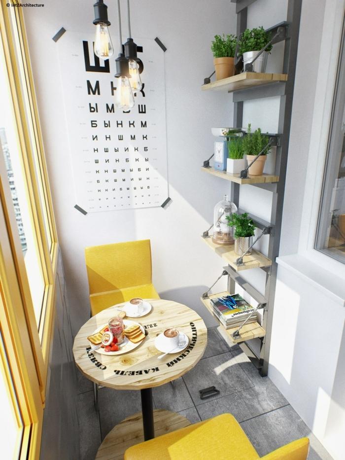 como decorar un espacio pequeño en la terraza, decoracion casera original, ideas para decorar la terraza con plantas verdes