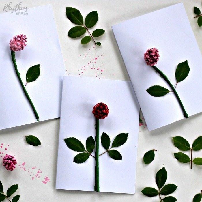 originales ideas de manualidades con piñas, tarjetas dia de la madre originales y bontias, fotos con ideas de regalos