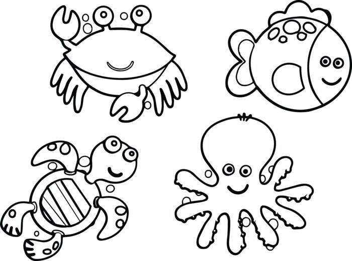 animales para dibujar, fotos de dibujos de animales sencillos, dibujos para colorear faciles y simpaticos para pequeños y adultos
