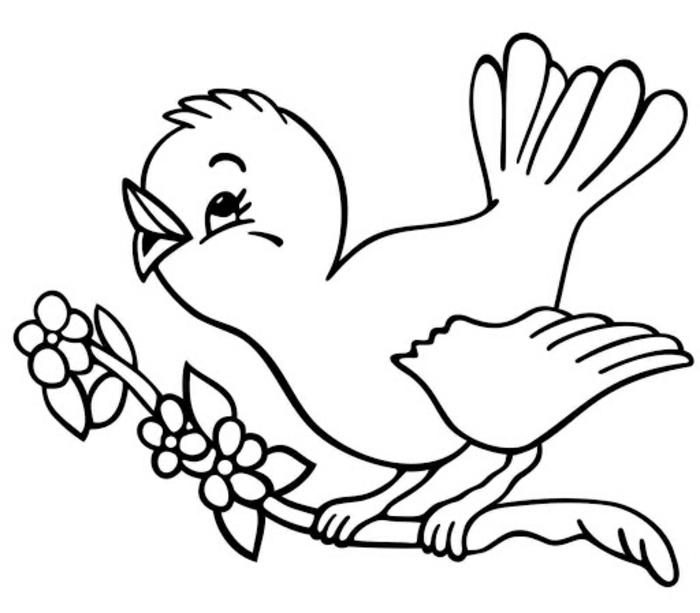 pequeña ave para calcar y dibujar, fotos de dibujos faciles de hacer, ideas de dibujos para refibujar en casa paso a paso