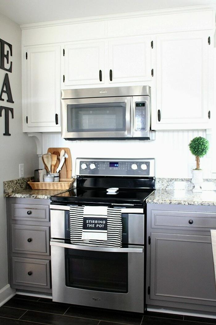fantasticas ideas sobre como organizar la cocina, organizadores de cocina prácticos y modernos, cocina decorada en blanco y gris