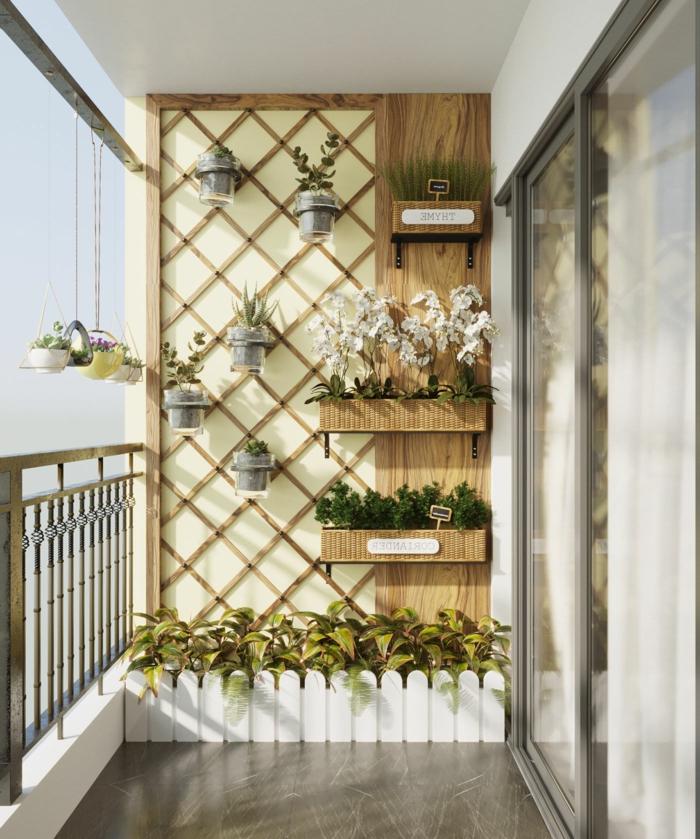 ideas para decorar terrazas pequeñas, ikea terraza con macetas con orquideas, fotos de terrazas pequeñas y modernas