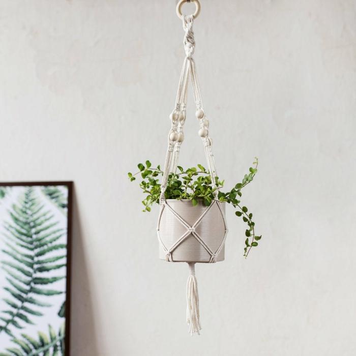 bonita maceta colgante para la casa de tu mama, ideas de regalos para madres cumpleaños, fotos de detalles para decorar la casa