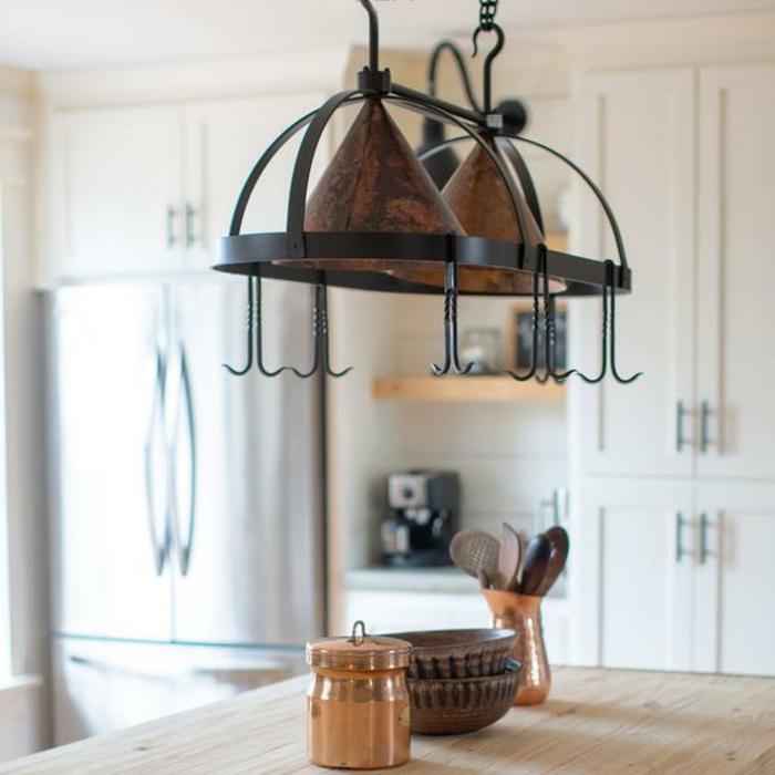 colgantes originales para almacenar los utensilios en la cocina, organizador cajones cocina, fotos de cocinas ordenadas