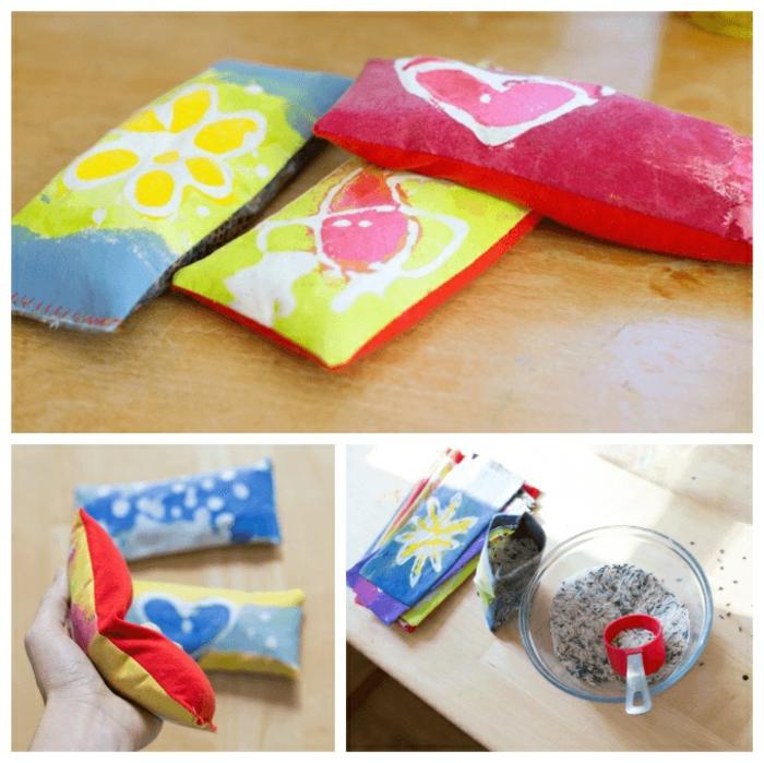 mini almohadas decorativas con especias y flores secas, manualidades para el dia de la madre faciles, ideas de regalos diy