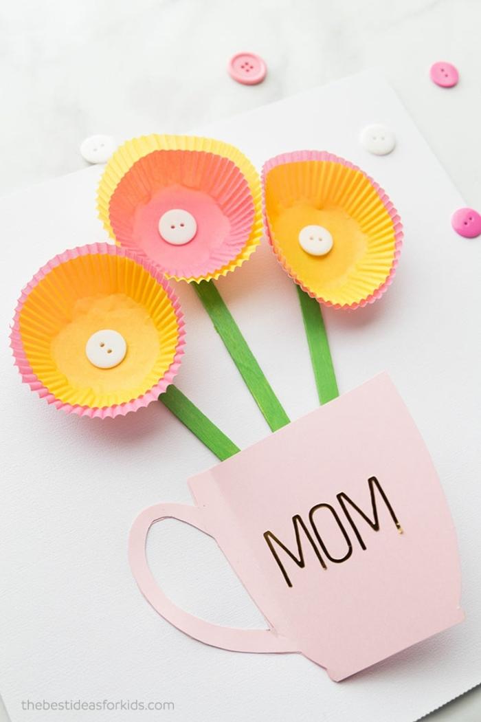geniales ideas de manualidades faciles y bonitas como hacer tarjetas para el dia de la madre, manualidades con papel