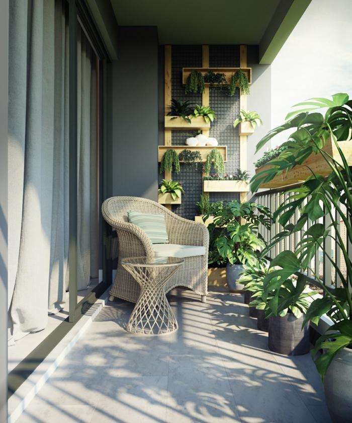 terraza acogedora decorada con mucho encanto, terrazas decoradas con plantas verdes, decoracion terrazas aticos