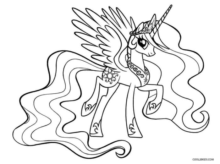 unicornio para imprimir y calcar o colorear, fotos de dibujos infantiles para colorear, mas de 90 ideas de dibujos chulos