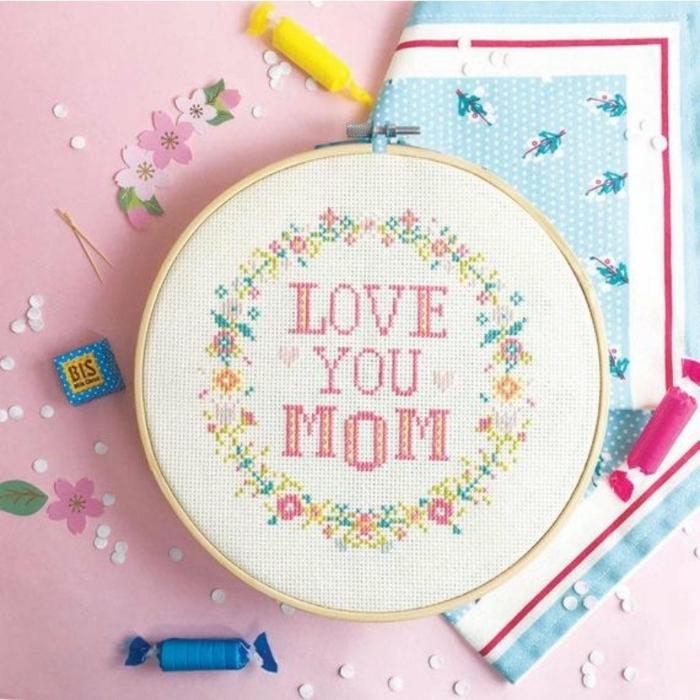 precioso bordado con letras para tu mama, regalos para madres cumpleaños, regalos personalizados unicos para tu madre