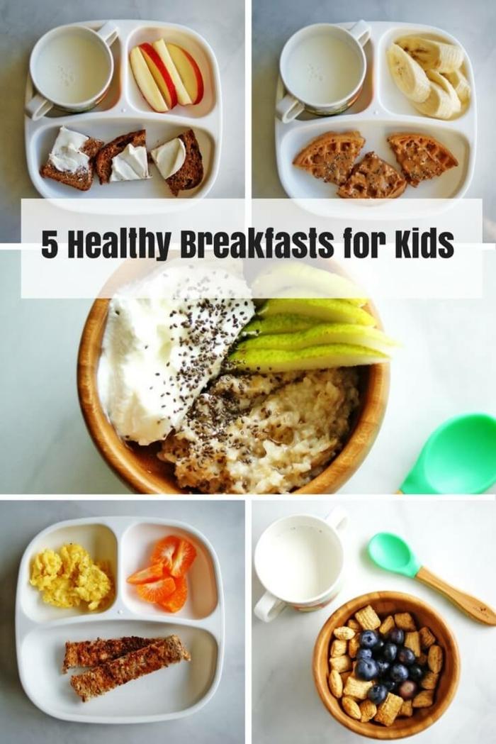 5 ideas de desayunos sanos para niños, desayunos saludables para bajar de peso, fotos de desayunos con frutas