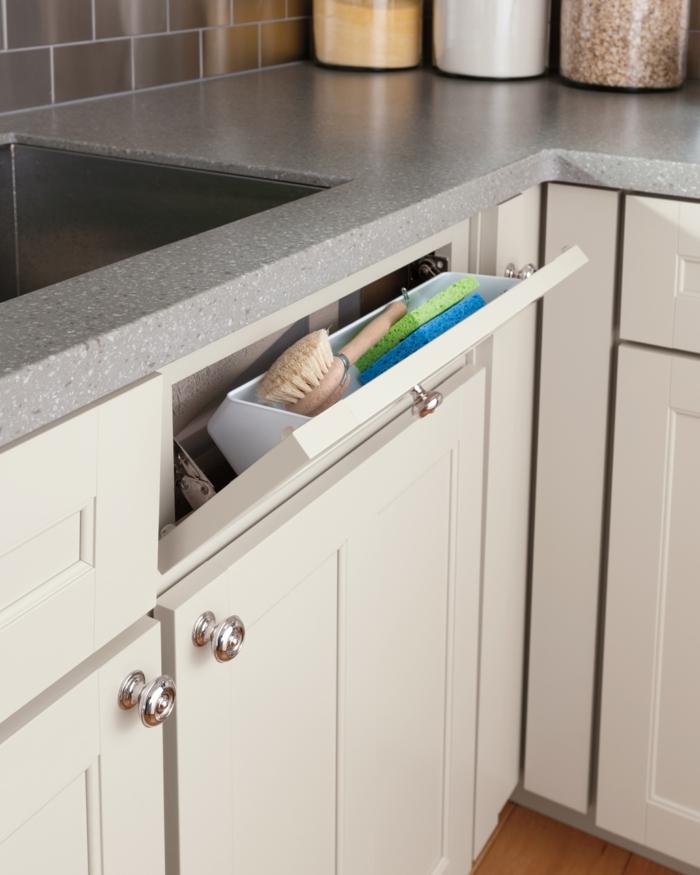 pequeños trucos para poner en orden la cocina, fotos con ideas sobre como aprovechar el espacio en la cocina, organizador cajones cocina