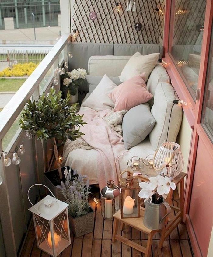 terrazas con paletsy muchos detalles decorativos, balcones y terrazas chill out decorados con mucho encanto en fotos