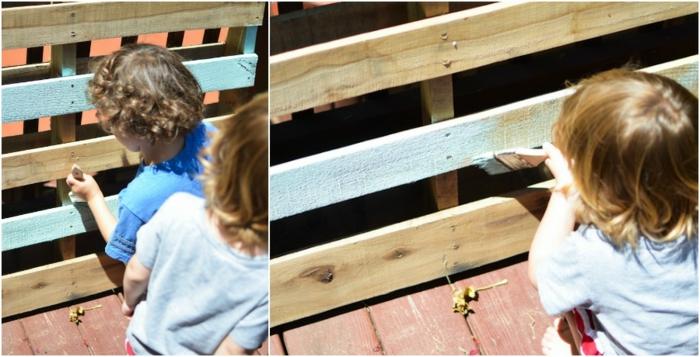 proyectos de pricolaje para la terraza, ideas con palets originales, como hacer una jardinera vertical con palets paso a paso