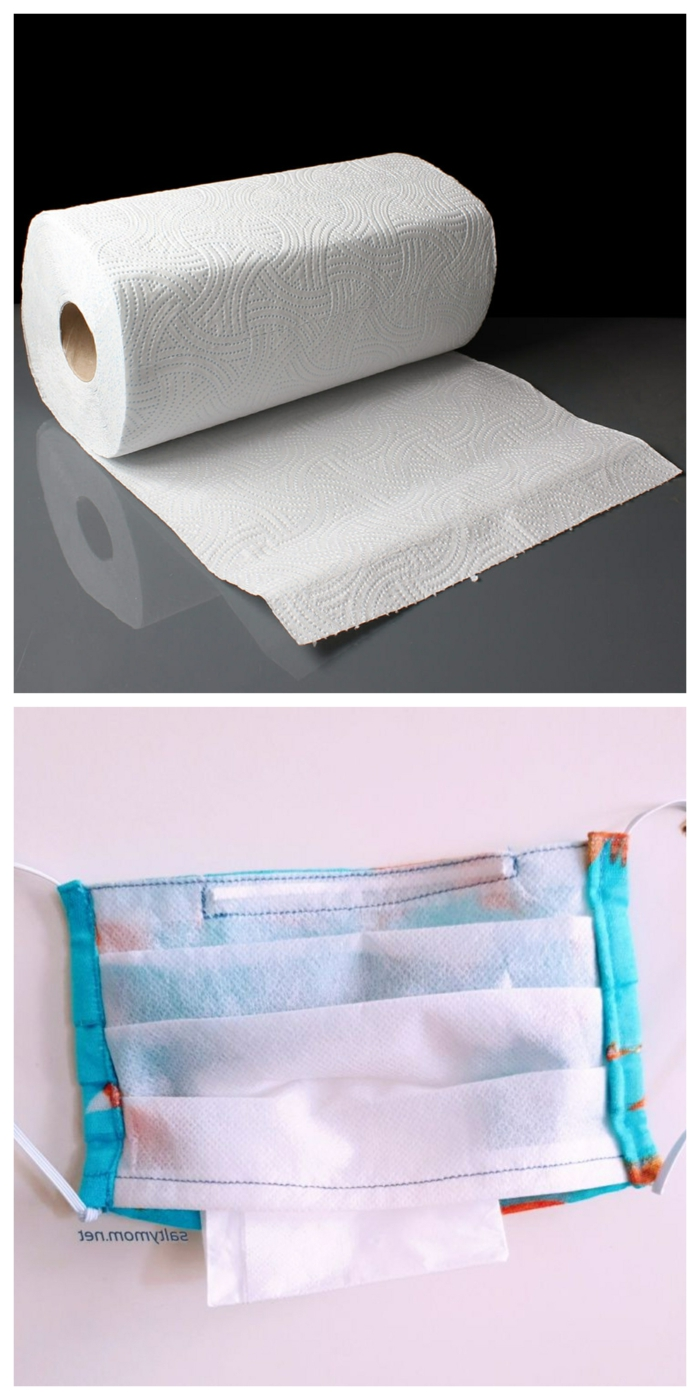 paper towel filter mask, cloth mask with filter pocket, what are the best ways to make a DIY mask