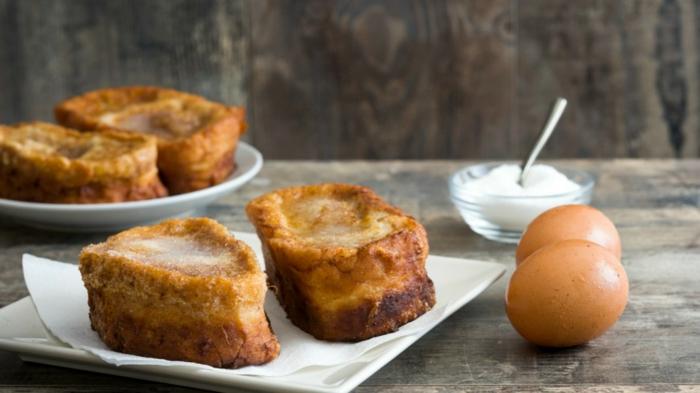 como hacer torrijas de leche apetitosas, idesa de recetas de postres y desayunos para pascua, originales ideas para brunch