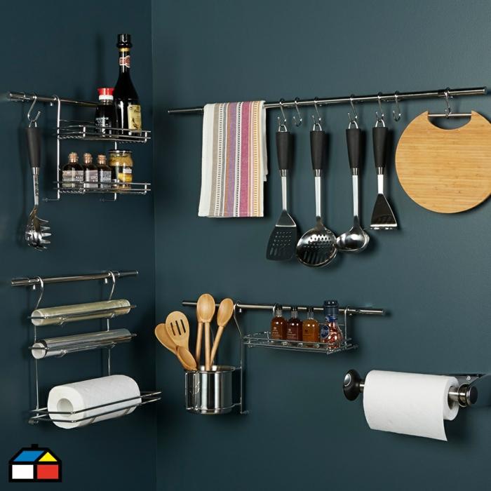 ideas originales y estantes colgantes para organizar la cocina, organizadores ikea originales, fotos muebles ikea bonitos