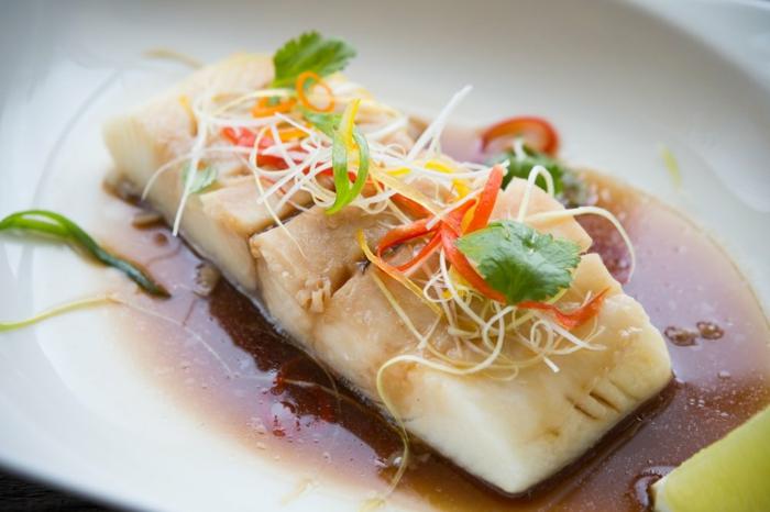pescado con salsa de vinagre, alimentos con proteinas para cenar, que comer despues de cenar, ideas de cenas sanas
