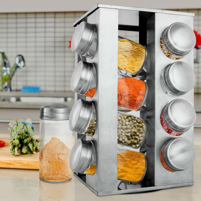 frascos funcionales y utiles para guardar las especias en la cocina, ideas de organizadores ikea, trucos para ordenar la cocina