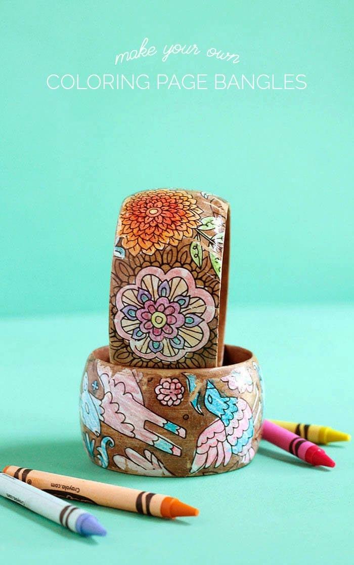 bonitas pulseras DIY con dibujos de flores y animale,s manualidades para el dia de la madre faciles, regalos con dibujos infantiles