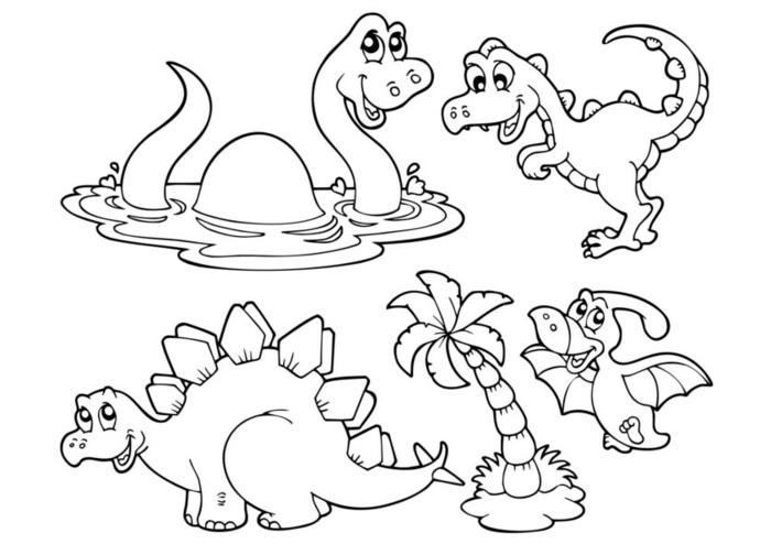 como dibujar un dinosauro, dibujos para los mas pequeños para descargar y colorear, dibujos para colorear de animales