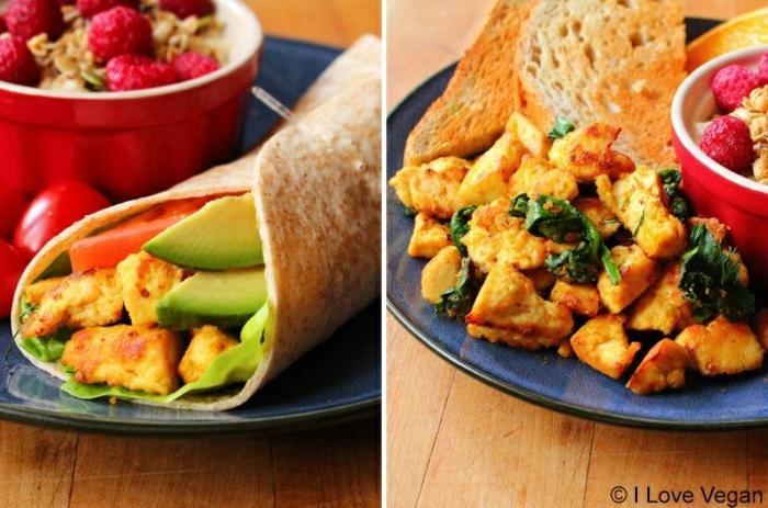 desayunos con aguacate originales, recetas de cocina faciles y sanas, ideas de recetas caseras ricas con tofu y agaucate