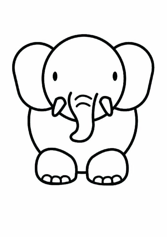 como dibujar un elefante, dibujos para colorear de animales, ideas de dibujos sencillos y faciles de hacer en casa